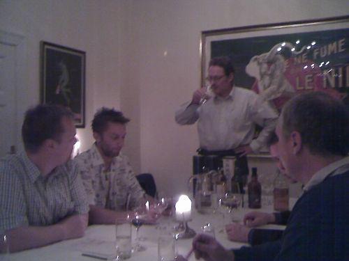 Micheal fortæller om aftenes single malts